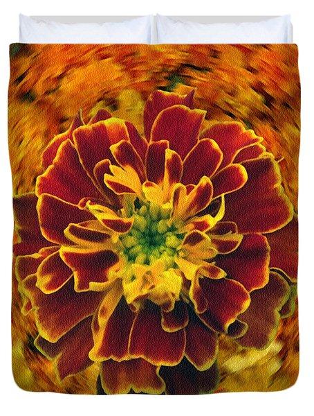 Home Grown Marigold Duvet Cover