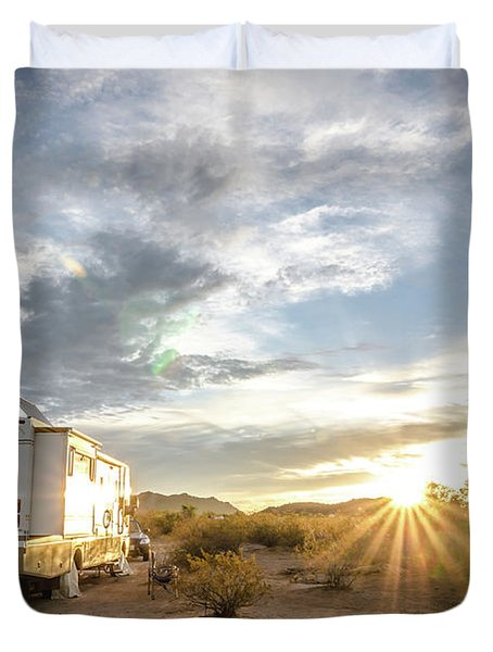 Home In The Desert Duvet Cover