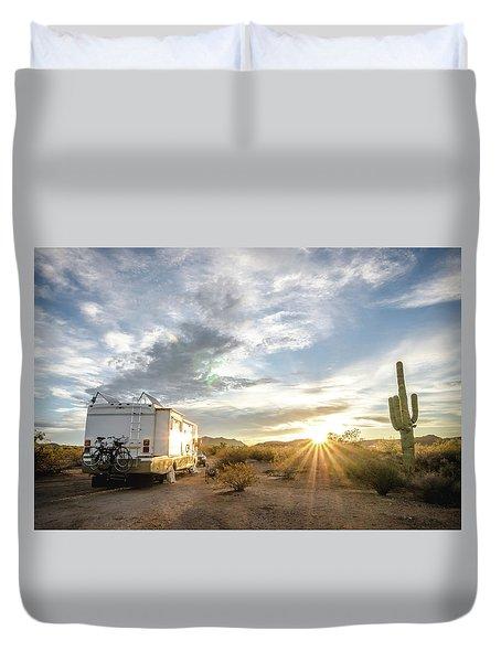 Home In The Desert Duvet Cover