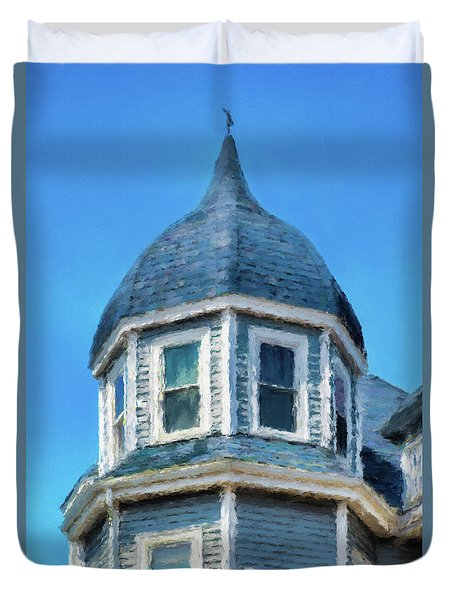 Home In Winthrop By The Sea Duvet Cover