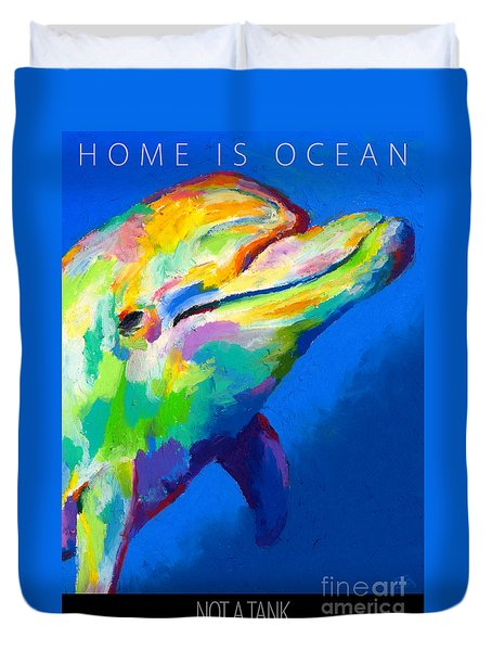 Duvet Cover featuring the painting Home Is Ocean by Stephen Anderson