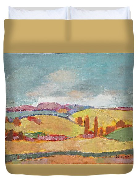 Home Land Duvet Cover by Becky Kim