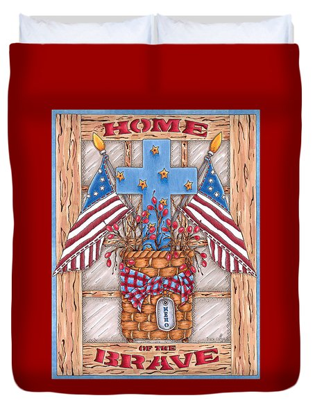 Home Of The Brave Duvet Cover