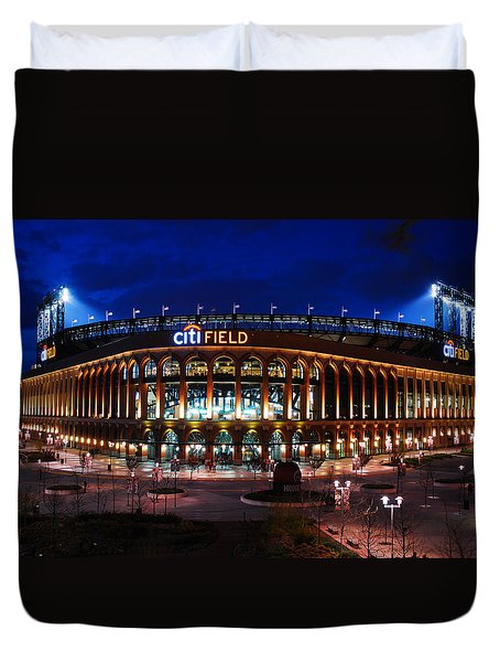 Duvet Cover featuring the photograph Home Of The Mets by James Kirkikis