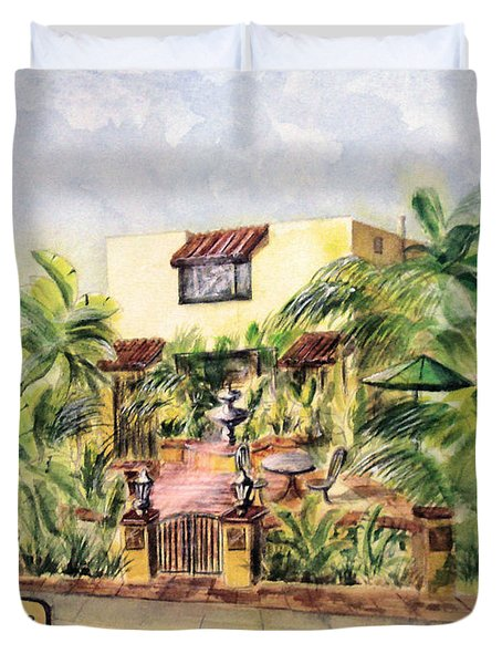Home On Belmont Shore Duvet Cover