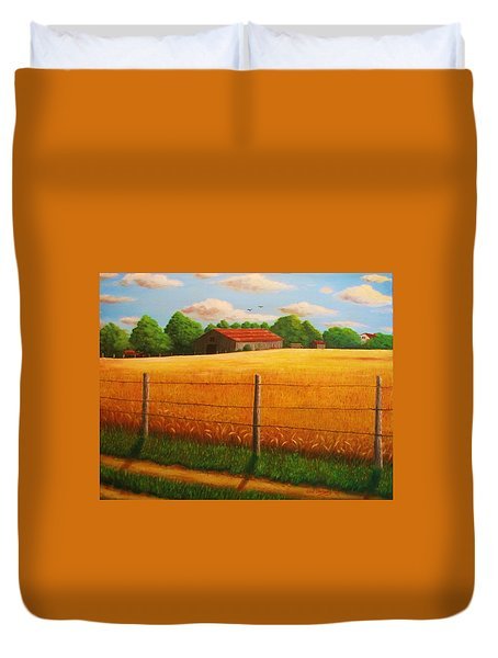 Home On The Farm Duvet Cover