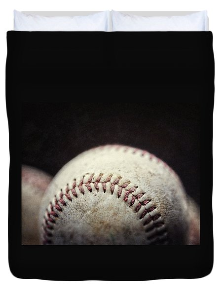 Home Run Ball Duvet Cover by Lisa Russo