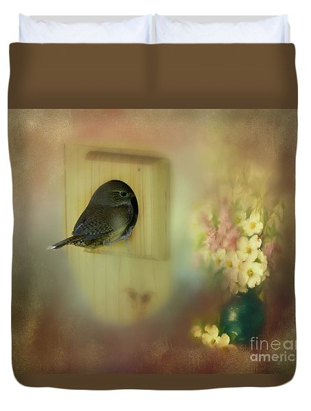 Duvet Cover featuring the photograph Home Sweet Home by Brenda Bostic