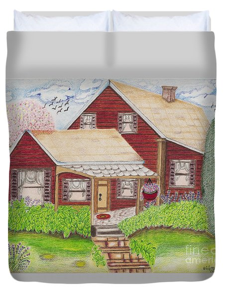 Home-sweet-home Duvet Cover