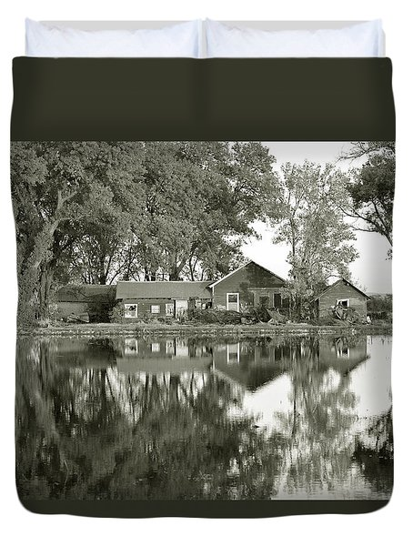 Home Sweet Home    Duvet Cover by Pamela Patch