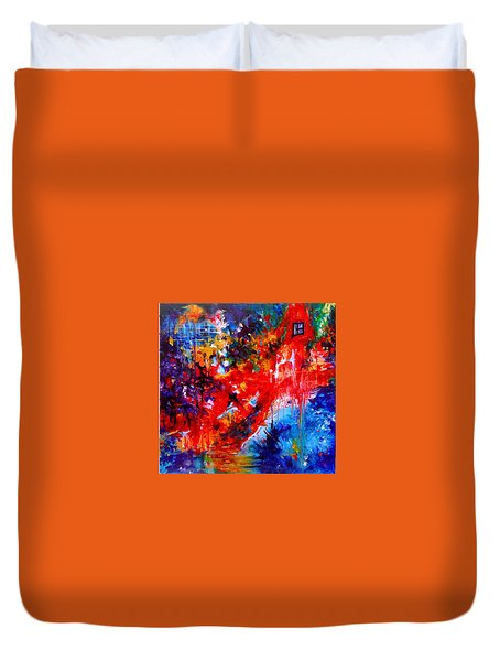 Home Sweet Home. Root Chakra. Series Healing Chakras. Duvet Cover by Helen Kagan