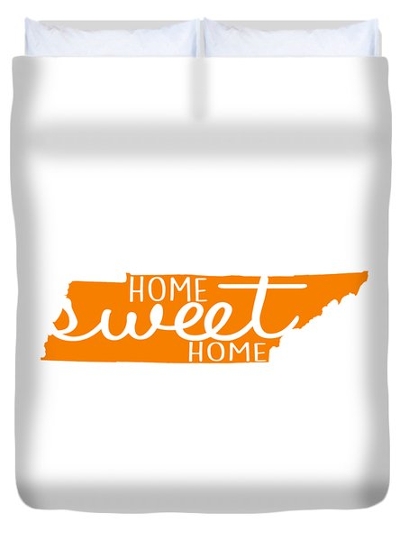 Duvet Cover featuring the digital art Home Sweet Home Tennessee by Heather Applegate