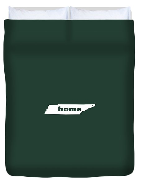 home TN on Green Duvet Cover by Heather Applegate