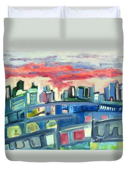 Home To The Softer Side Of City Duvet Cover