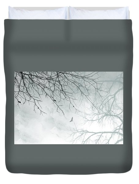 Duvet Cover featuring the digital art Home by Trilby Cole