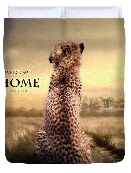 Duvet Cover featuring the photograph Home2 by Christine Sponchia