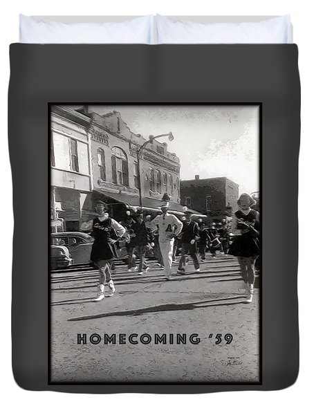 Homecoming 1959 Duvet Cover