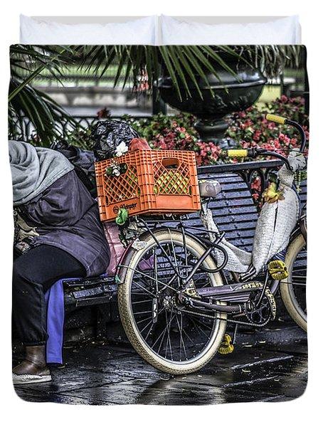 Homeless In New Orleans, Louisiana Duvet Cover