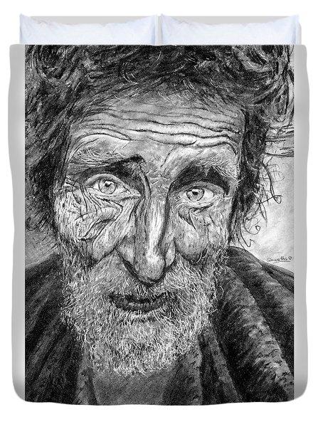 Homeless Mr. Craig Duvet Cover
