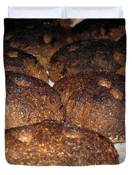 Homemade Lithuanian Rye Bread Duvet Cover by Ausra Huntington nee Paulauskaite