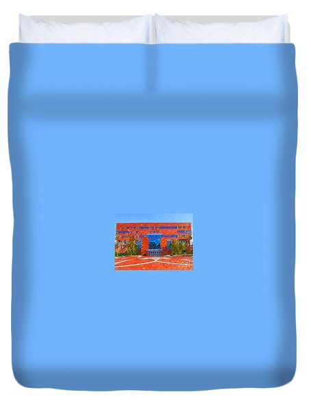 Homer Library Duvet Cover