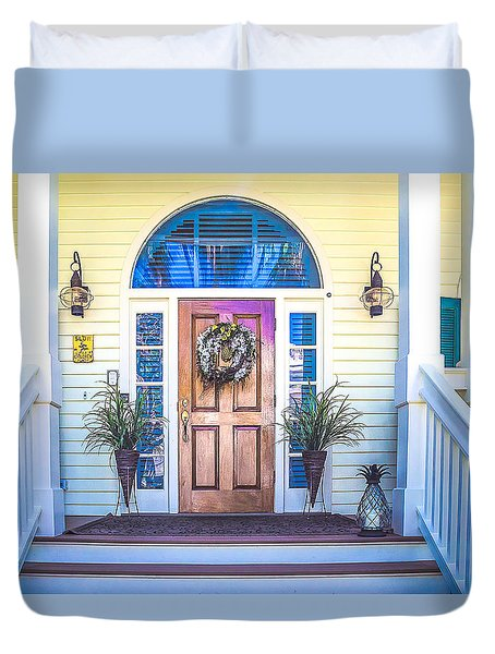Duvet Cover featuring the photograph Homes Of Key West 10 by Julie Palencia