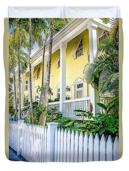 Duvet Cover featuring the photograph Homes Of Key West 14 by Julie Palencia