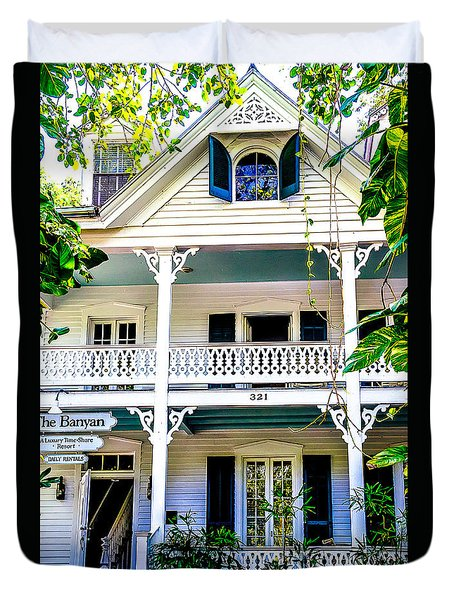 Duvet Cover featuring the photograph Homes Of Key West 2 by Julie Palencia