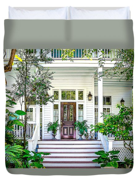 Duvet Cover featuring the photograph Homes Of Key West 3 by Julie Palencia