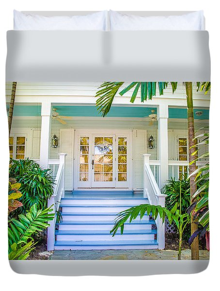 Duvet Cover featuring the photograph Homes Of Key West 5 by Julie Palencia