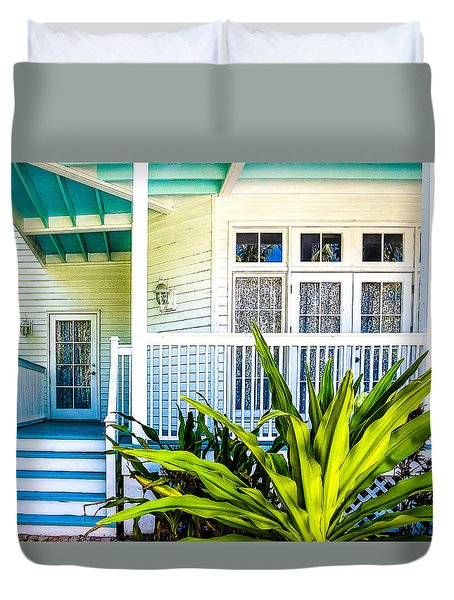 Duvet Cover featuring the photograph Homes Of Key West 6 by Julie Palencia
