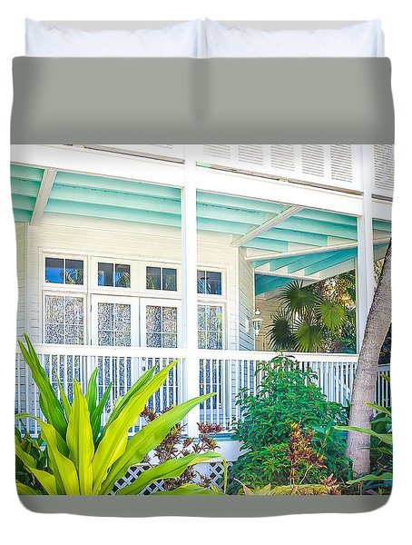 Duvet Cover featuring the photograph Homes Of Key West 7 by Julie Palencia