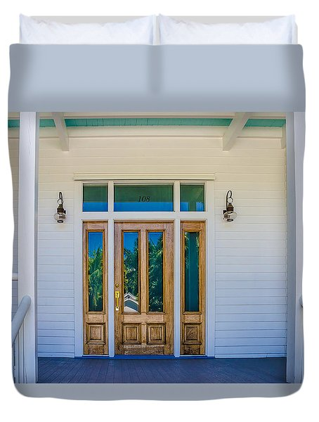 Duvet Cover featuring the photograph Homes Of Key West 8 by Julie Palencia