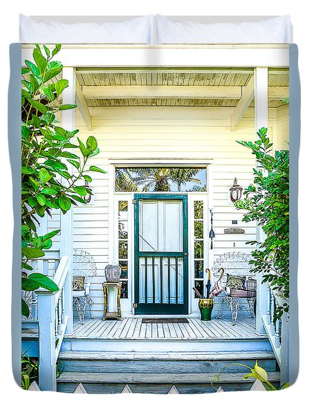 Duvet Cover featuring the photograph Homes Of Key West 9 by Julie Palencia