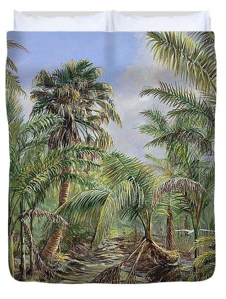 Homestead Tree Farm Duvet Cover