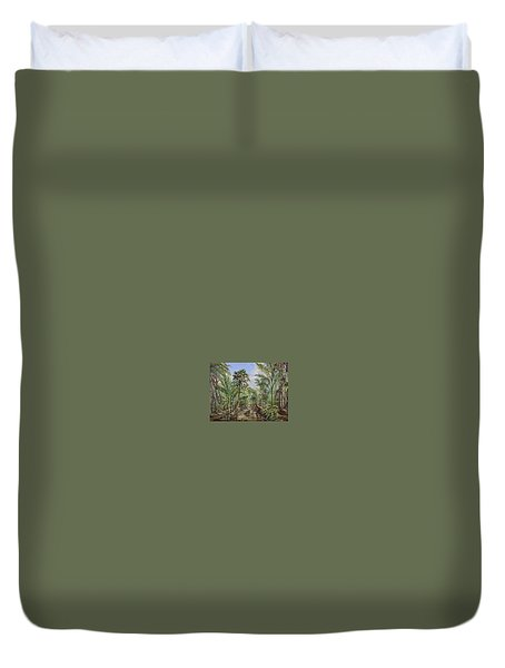 Homestead Tree Farm Duvet Cover