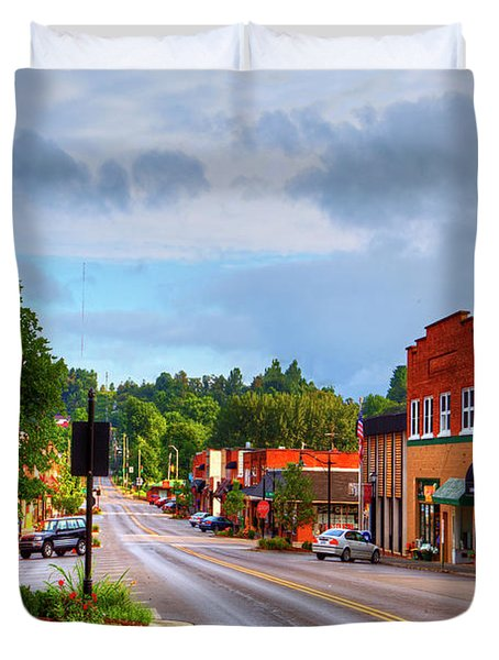 Hometown America Duvet Cover by Dale R Carlson