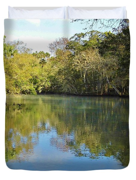 Homosassa River Duvet Cover