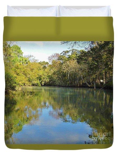 Homosassa River Duvet Cover by D Hackett