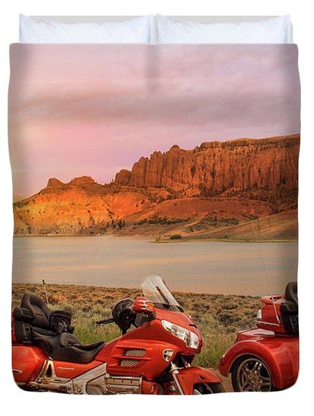 Honda Goldwing Bike Trike And Trailer Duvet Cover