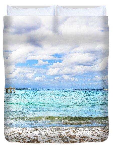 Honduras Beach Duvet Cover