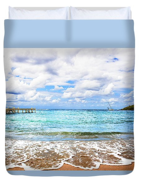 Honduras Beach Duvet Cover by Marlo Horne