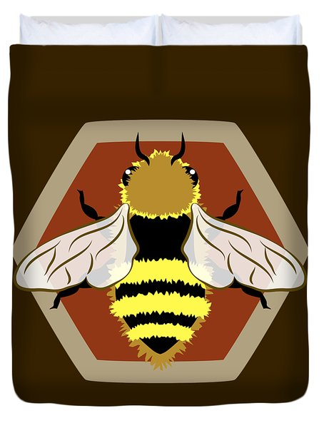 Honey Bee Graphic Duvet Cover