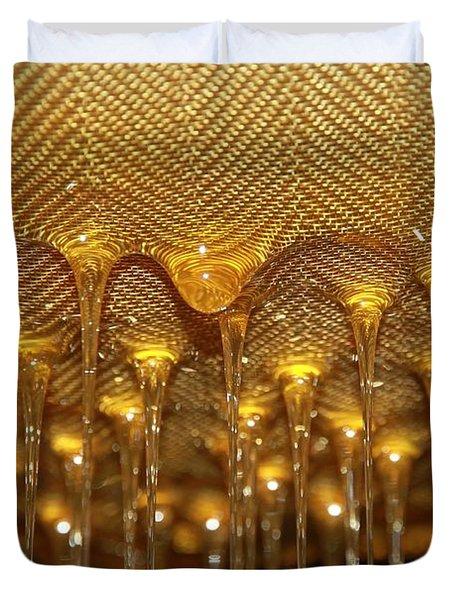 Honey Drip Duvet Cover