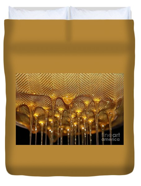 Duvet Cover featuring the photograph Honey Drip by Stephen Mitchell