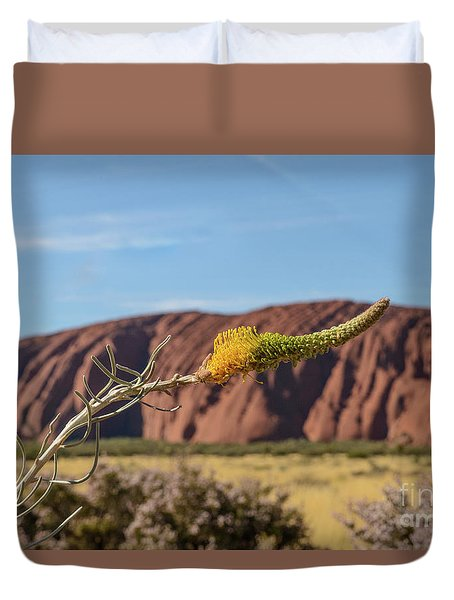 Duvet Cover featuring the photograph Honey Grevillea 01 by Werner Padarin
