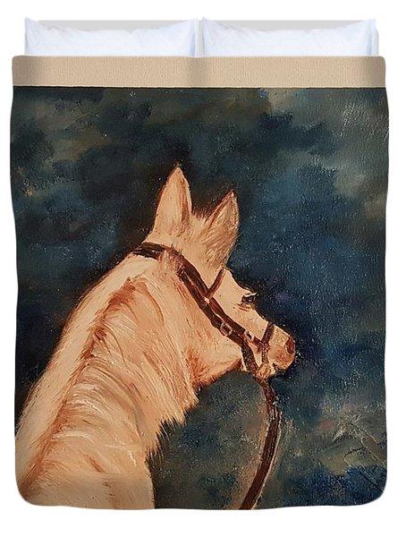 Honey Palomino Horse 28 Duvet Cover
