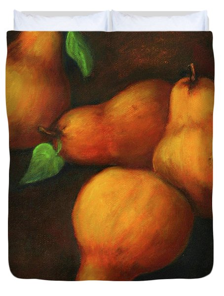 Honey Pears Duvet Cover