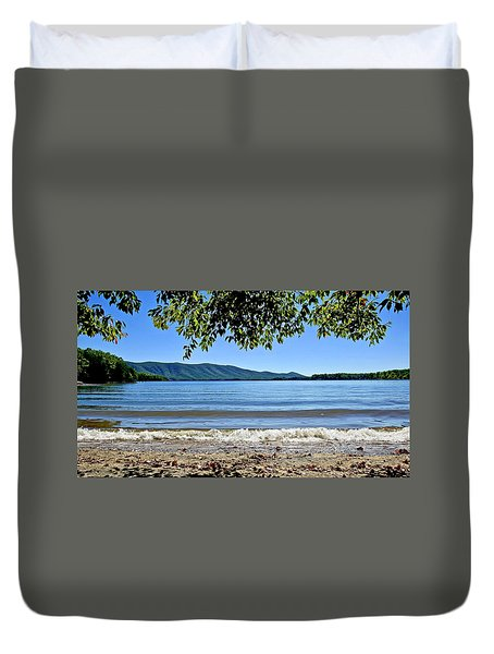 Honey Suckel Cove, Smith Mountain Lake Duvet Cover