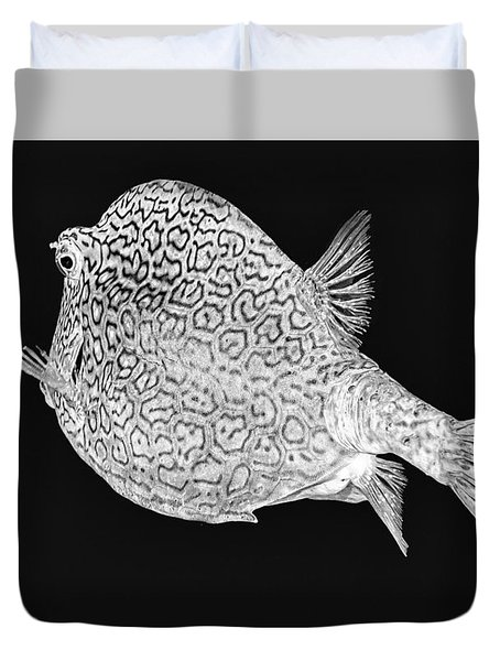 Honeycomb Cowfish Duvet Cover by Perla Copernik